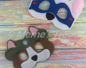 Puppy Adventure Deluxe Felt Mask -- Kids Mask – Inspired by Paw Patrol-- Costume – Dress-Up -- Pretend Play -- Party Favor