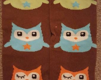 brown owl baby leg warmers