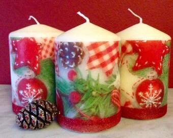 Christmas candle, Holiday gift, Home Decor, Christmas Gift,