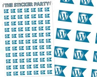 MF016 Mini Flag Wordpress Planner Stickers
