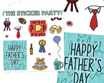 Father's Day Planner Stickers | ERIN CONDREN