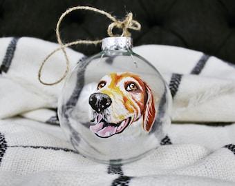 Custom hand painted pet ornaments, pet ornaments, painted ornament, dog ornament, custom pet ornament, custom dog ornamant