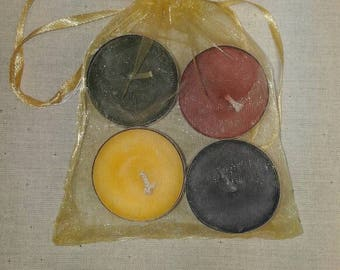 Soy wax tealights 4 colours