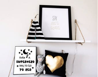 INSTANT DOWNLOAD - digital print - even a superhero has to go to bed - bedroom decor - kids room decoration - wall decor