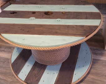 SUMMER SALE: Repurposed Upcycled Cable Spool Table