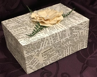 Shakespeare book page jewelry box
