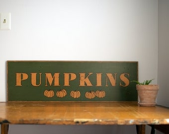 Pumpkins Handpainted Farmhouse Sign