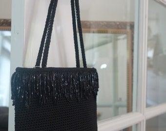 The Sak, New York - chique black ladies evening bag - vintage