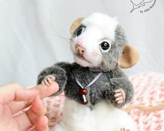 SOLD baby rat Teddy Bear friend OOAK rat Pansy