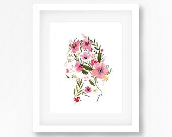 Floral Profile Print