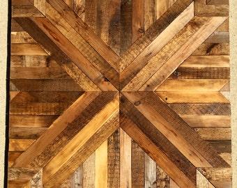 Navajo Inspired Reclaimed Wood Wall Hanging
