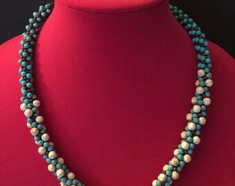 Turquoise Kumihimo necklace