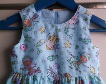 Mermaids sparkly dress