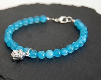 Jade bracelet Reiki bracelet with Buddha