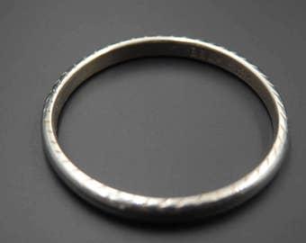 Art deco,  antique 1920's Belais 18k white gold wedding ring size 8.5