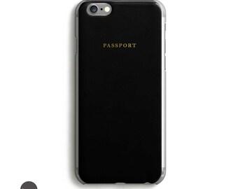 Passport gold iphone 5 case, gold iphone case, gold iphone 6 case, transparent iphone 6s case, clear iphone 6s plus case, iphone 6s case