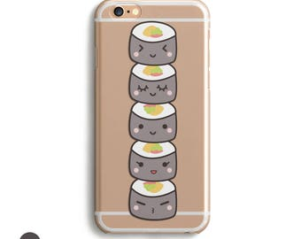 Iphone 6s Silicone Case,  Iphone 7 Case Rubber, Iphone 7 Rubber Case, Sushi Phone Case, Sushi Iphone Case