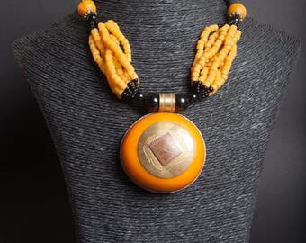 African ethnic necklace