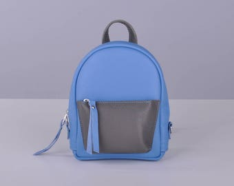 Fog and sky leather backpack - Baby-Sport