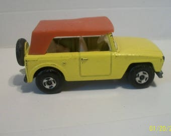 1969 Lesney/Matchbox Superfast Field CarYellow With Light Auburn Brown Roof Matchbox No.18. 1/64 Scale Loose Diecast  Made In England