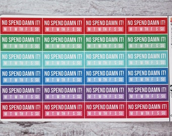 No Spend Damn It! Planner Stickers