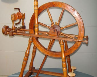 Spinning Wheel Antique made in 1847 Austria/Germany 170 years old