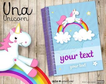 My Fancypants Notebook: Una Unicorn (Handmade personalised notebook)