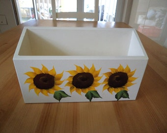 Hand Crafted and Hand Painted Sunflower Single Letter Rack