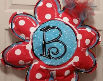 Flower power door hanger! Perfect for Spring and Mother's Day!