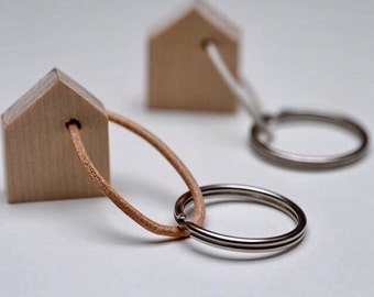 Wooden house key ring | key chain