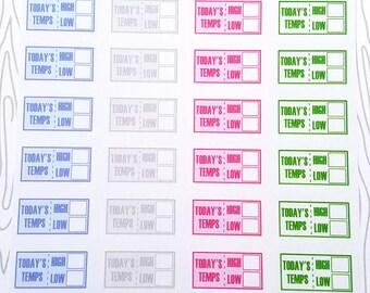 Temperature Tracker Minis (Set of 40) Item #460
