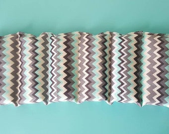 Rice bag / Blue, gray, white chevron  / rice heating pad / pain relief / heat and cold therapy pack / relaxation / microwavable