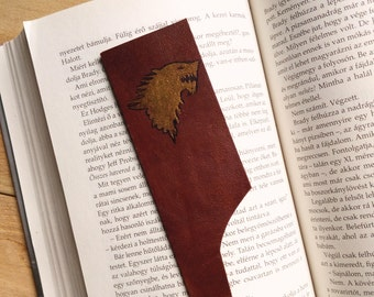 Leather bookmark, Game of Thrones bookmark, Winter is coming bookmark, Stark bookmark, A Song of Ice and Fire bookmark