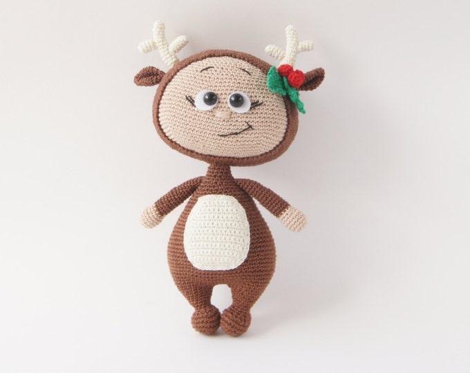 Crochet Doll, Stuffed Toy, Gift For Kids, Amigurumi Doll, Crochet Amigurumi Handmade, Deer Toy, Christmas Gift