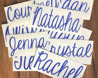 Any Word Decal - Personalized Name Decal - Glitter Name - Glitter Decal - Customized Decal - Word Vinyl Decal - Car Decal - Tumbler Decal
