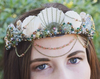 SPECIAL PRICE!!! Mermaid Crown, Festival Crown - GAIA