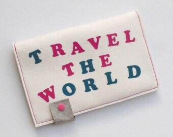 SALE - Travel Organizer für Reisepass, Flugticket, Bargeld, Reiseetui, Organizer für Reisedokumente, Reiseorganizer, cremeweiß