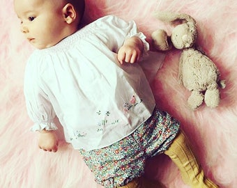 Bob tail Bloomers, bloomers for babies, baby bloomers, Liberty bloomers, newborn gift, boho babywear