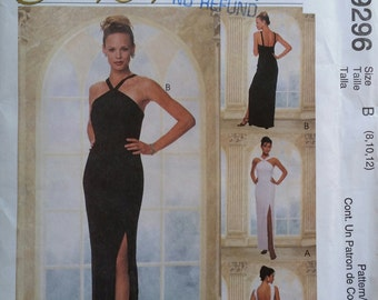 Uncut McCall's #9296 Sewing Pattern for Misses' Formal Lined Dress