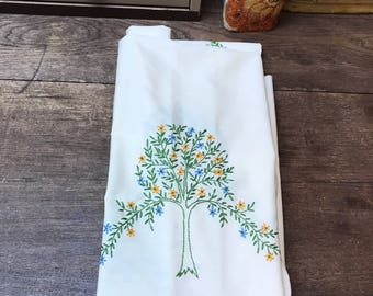Vintage Tablecloth Rectangular Trees