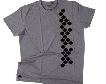 Expanded Mesh design on Fairtrade Organic T-shirt