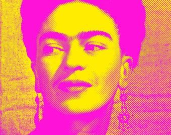 Frida Kahlo print Frida Kahlo poster Frida Kahlo pop art Frida Kahlo art cool poster original pop art Frida Kahlo wall art print Warhol