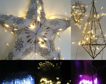 String lights for party decorations wedding decorations fairy lights 4m indoor portable battery 40 LED available warm white cool white pink