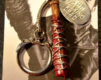 "Negan TWD Negan's Bat ""LUCILLE"" The Walking Dead Negan Lucille Keychain"