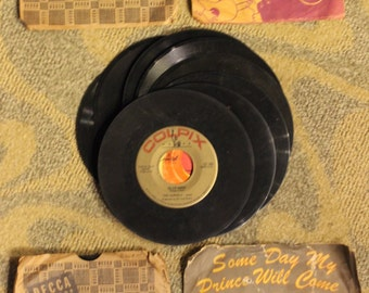 Vintage 20-Piece Collection of 45 RPM Records