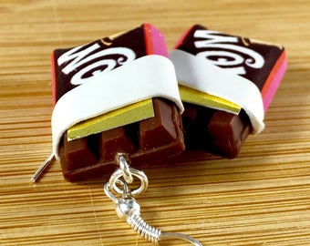 Willy wonka golden ticket chocolate bar polymer clay food charm jewelry