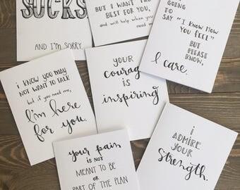 Honest I'm Sorry cards - hand drawn sympathy cards