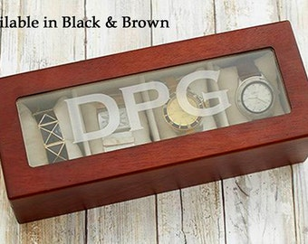 Watch Box, Watch Boxes For Men, Mens Watch Box, Personalized Watch Box, Watch Storage Box, Wooden Watch Box, Watch Jewelry Box, Engraved