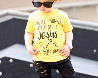 Jesus Loves You Tee (Yellow, Caribbean Blue)