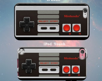 Classic Retro Video Game NES Controller Fun Cool Gamer Nintendo D-Pad Rubber Case for iPhone 7 6s 6 Plus iPhone SE 5s 5 5c iPod Touch